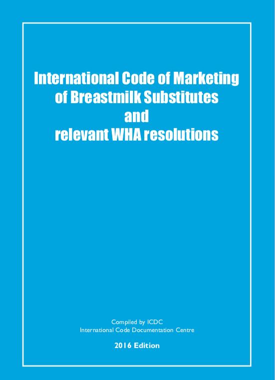 International Code and Resolutions